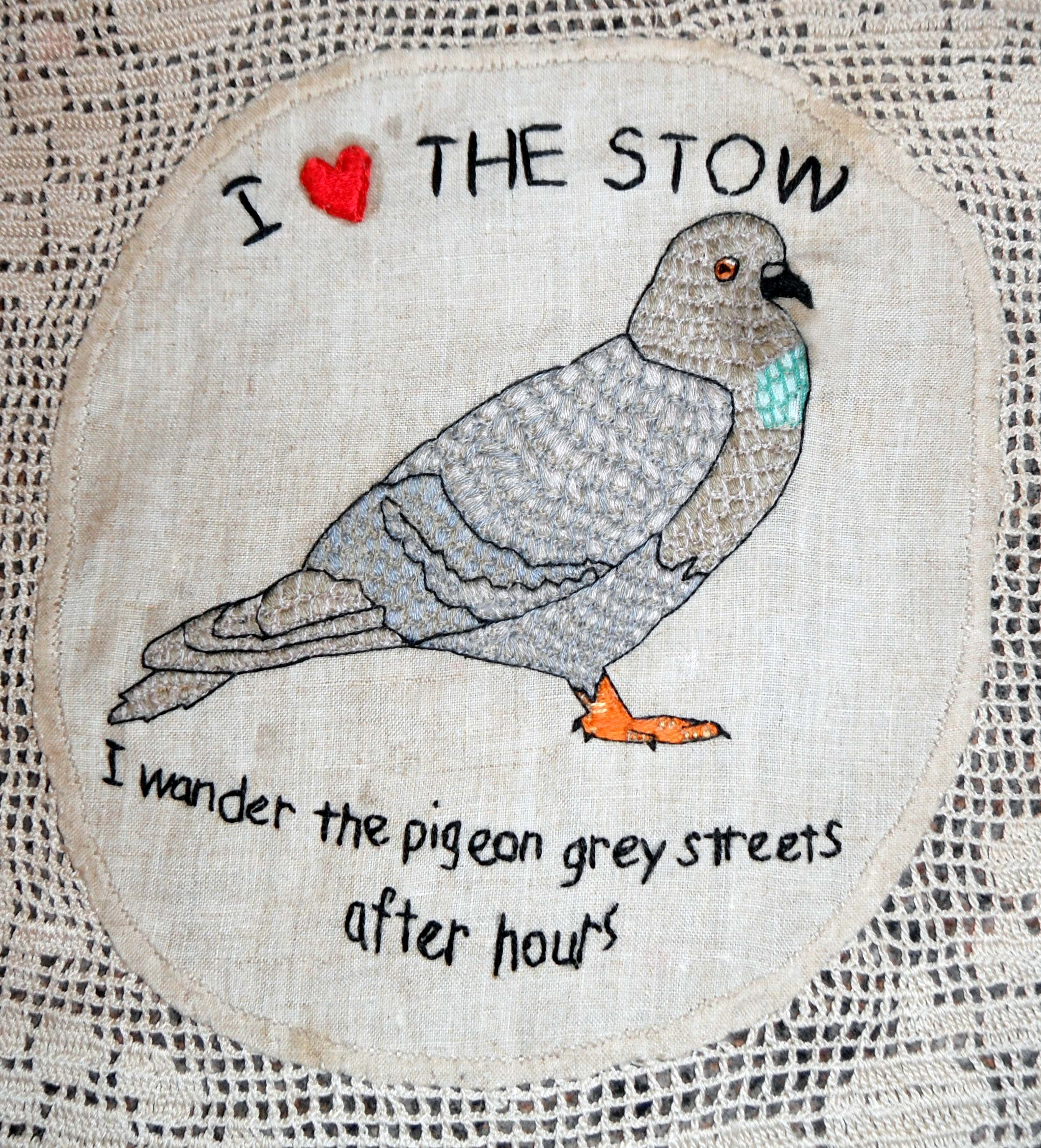 I Heart the Stow Pigeon by Kate Rolison