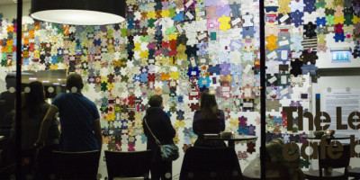 Look at what we all created together: Craftivist Jigsaw #imapiece unveiling :)