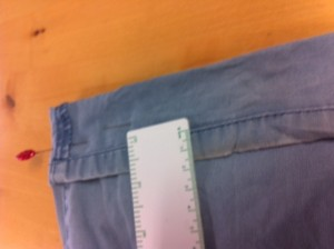 Shortening Jeans Pic 3B