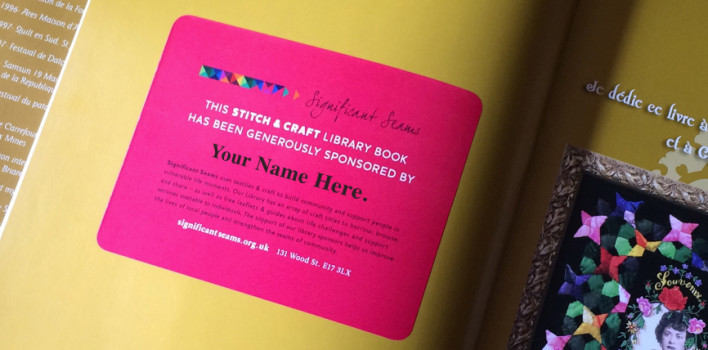 Sponsor a book in our Stitch & Craft Library