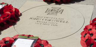 Jack Cornwell, the Service of Remembrance and Poppy Installation
