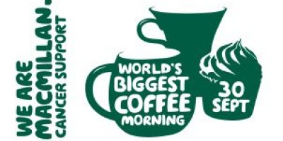 Coffee Morning here for Macmillan Cancer Support
